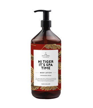 The Giftlabel Body Lotion - Hi Tiger It's Spa Time