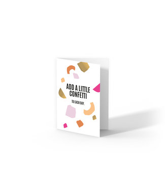 Studio Stationery Kaart - Add a Little Confetti