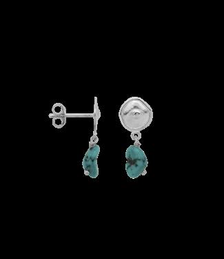 ANNA NINA Turquoise Spy Stud Single Silver