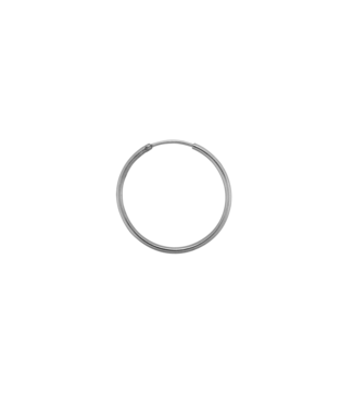 ANNA NINA Single Plain Ring Earring (XL) Silver