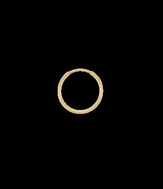 ANNA NINA Single Plain Ring Earring (L) Goldplated