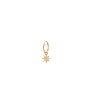 ANNA NINA Single Nova Ring Earring Goldplated
