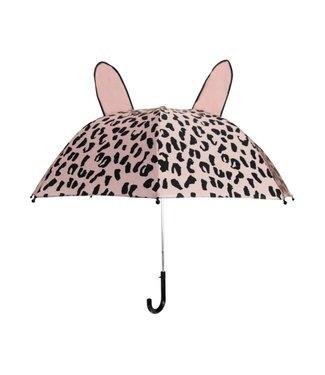 VAN PAULINE Paraplu pink leopard
