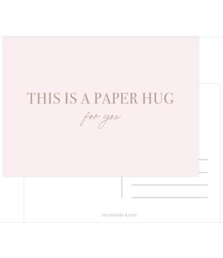 Stationery & Gift This is a paper hug goudfolie