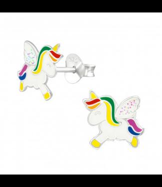 PRECIOUS JEWEL kinder oorbellen - unicorn