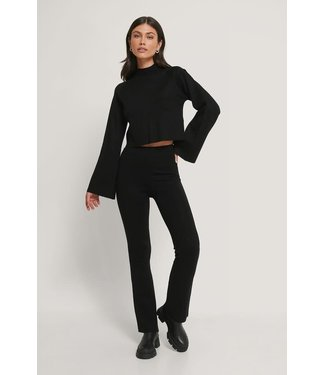 NAKD Lounge flare pants zwart