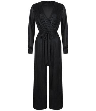 Ydence Estelle jumpsuit metallic zwart