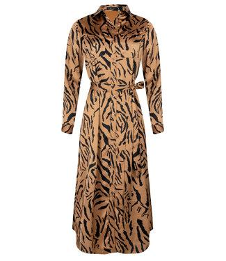 Ydence Philippa maxi dress camel tiger print
