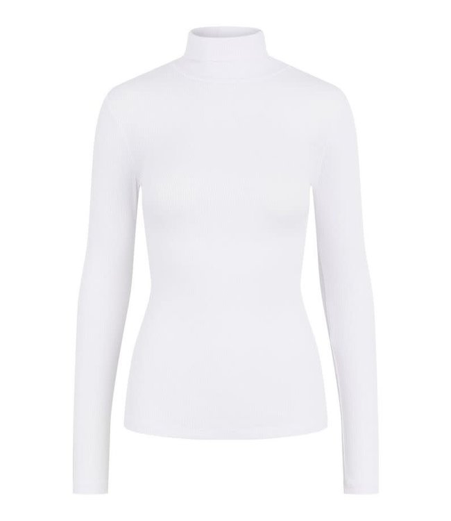 PIECES Pippi rollneck top wit