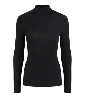 PIECES Pippi rollneck top zwart