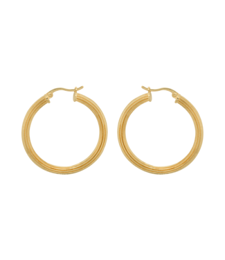 ANNA NINA Pyramid Hoop Earrings Goldplated