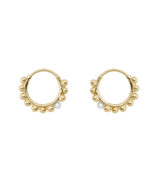 ANNA NINA Cosmic dust ring earring  set goudkleurig