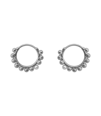 ANNA NINA Cosmic dust earring zilver set