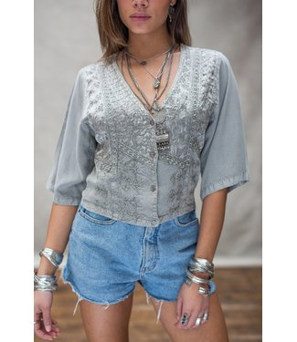 MOOST WANTED Melody Top Grey XS-S