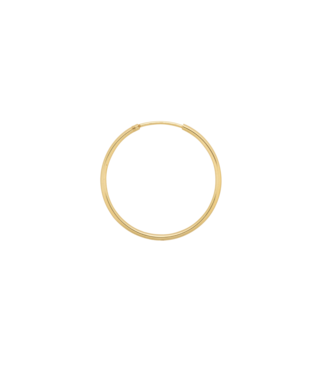 ANNA NINA Single Plain Ring Earring (XXL) Goldplated
