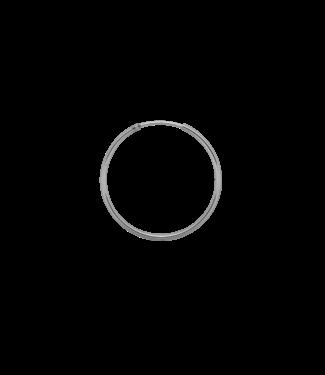 ANNA NINA Single Plain Ring Earring (XXL) silver