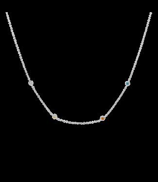 ANNA NINA Confetti Necklace Silver