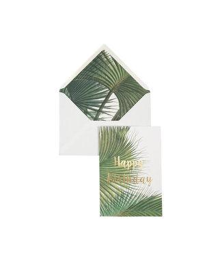 Creative lab amsterdam Botanic Palm - Happy Birthday