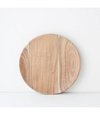 UNC Plate Acacia Wood - Ø18 cm
