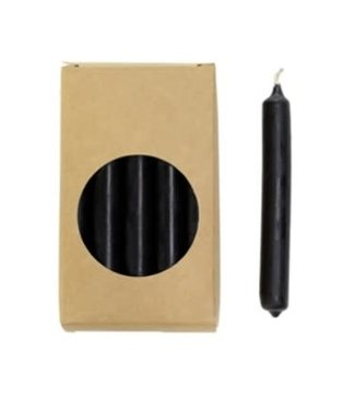 Rustik Lys Mini Potloodkaars zwart 20 stuks