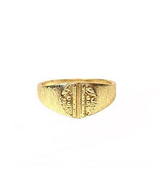 MUJA JUMA Signet Ring Gold Vermeil