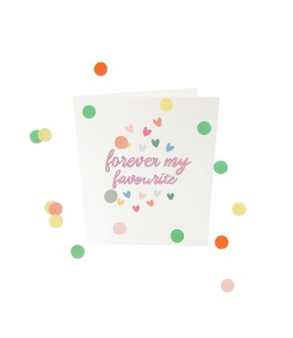 The Giftlabel Confettiekaart - forever my favorite