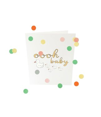 The Giftlabel Confetticard- oooh baby