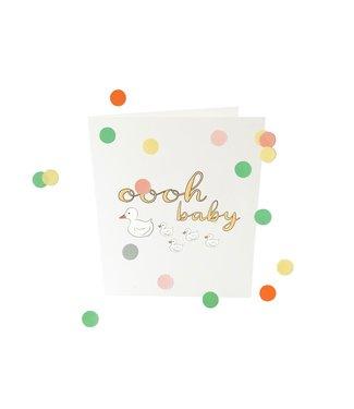 The Giftlabel Confettiekaart - oooh baby