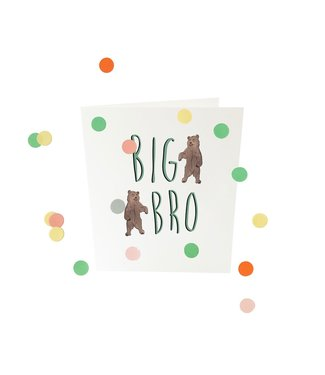 The Giftlabel Confettiekaart - big bro