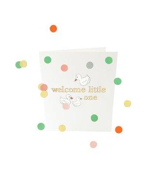 The Giftlabel Confettiekaart - welcome little one