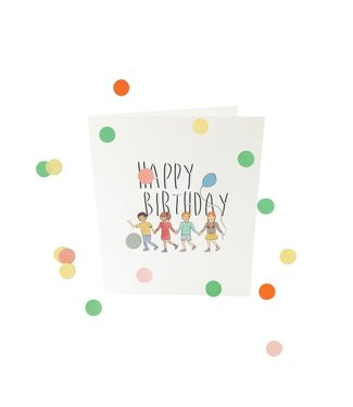 The Giftlabel Confetticard - happy birthday