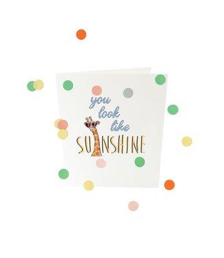 The Giftlabel Confettiekaart - you look like sunshine