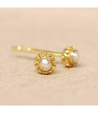 MUJA JUMA Earring White Pearl Gold Plated