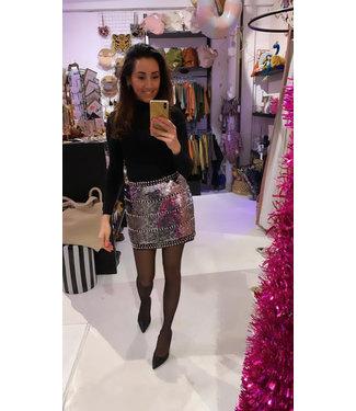 Rumah Glitter skirt silver studs