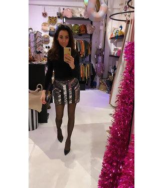 Rumah Glitter skirt black silver