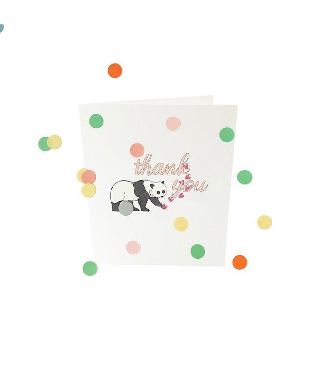 Confetticard - thank you - in Bedankkaarten