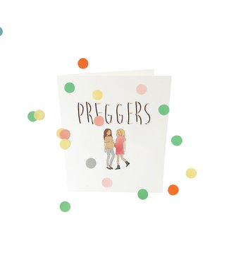 The Giftlabel Confetticard - preggers