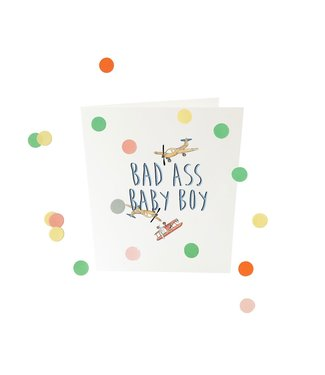 The Giftlabel Confetticard - bad ass baby boy