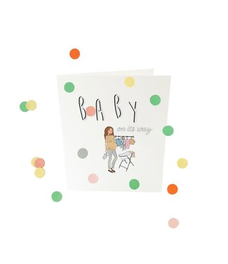 The Giftlabel Confetticard - baby on its way