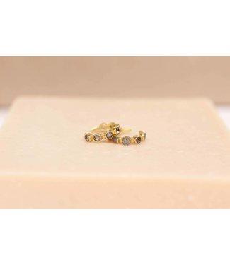 MUJA JUMA Earcuff Labradorite Seven Stones Gold Plated