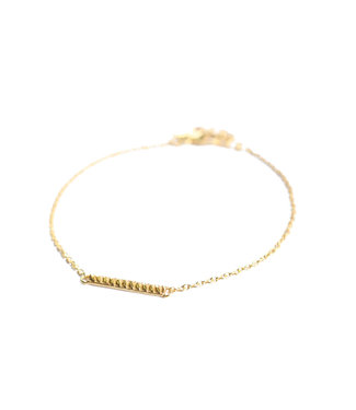MUJA JUMA Bracelet Bar Stripe Gold Plated