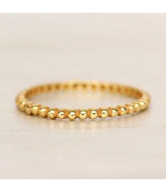 MUJA JUMA Gold Plated Ring Small Dots Maat 52