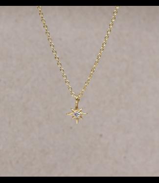MUJA JUMA Collier Zirkonia Star Gold Plated - 55 cm
