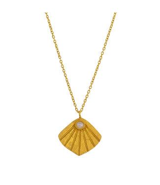 MUJA JUMA Collier Wave Pearl Gold Plated