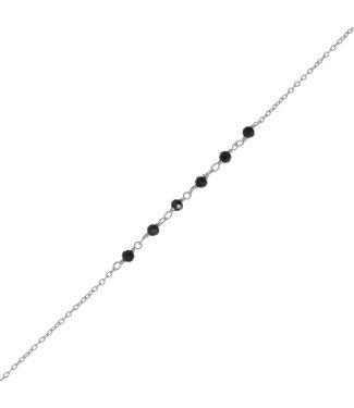 MUJA JUMA Bracelet Stones Black Zirkonia Silver
