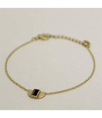 MUJA JUMA Bracelet Egypt Garnet Black Zirkonia Gold Plated