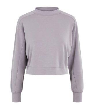 PIECES Vigga cropped lounge sweater grey