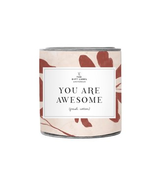 The Giftlabel Candle Big - You are awesome