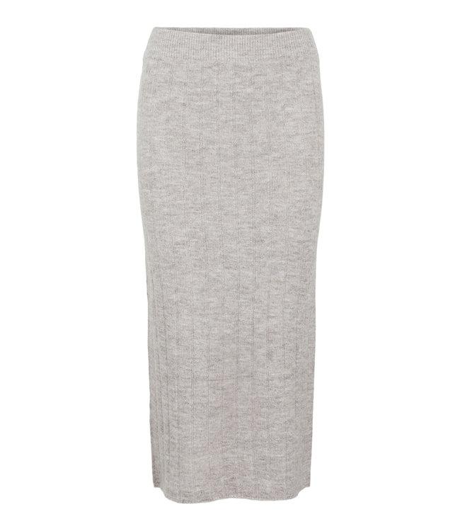 PIECES Giana Midi knit skirt Taupe