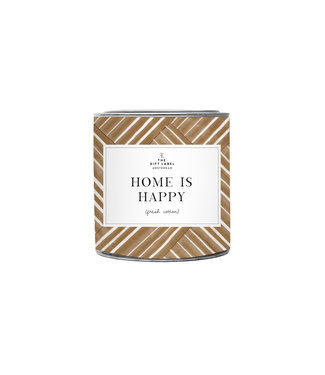 The Giftlabel Candle big - Home is happy